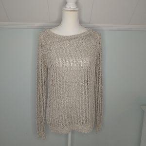 Lou & Grey Loft Open knit sweater EUC size M